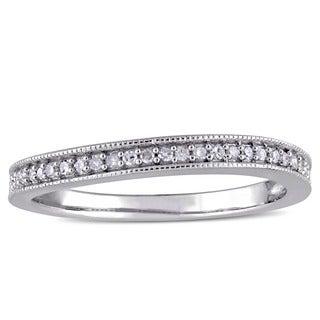 Haylee Jewels Sterling Silver 1/8ct TDW Diamond Wedding Band (G-H, I2-I3)