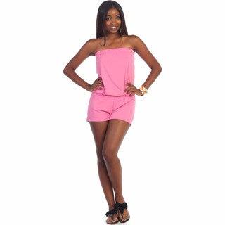 Hadari Women's Strapless Short Romper