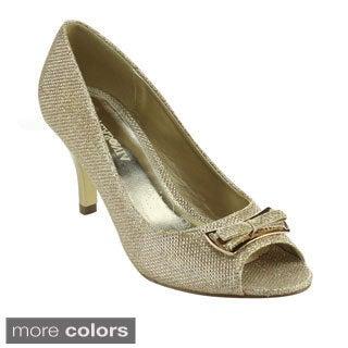Lasonia M7743 Women's Metallic Glitter Stiletto Dress Party Heels