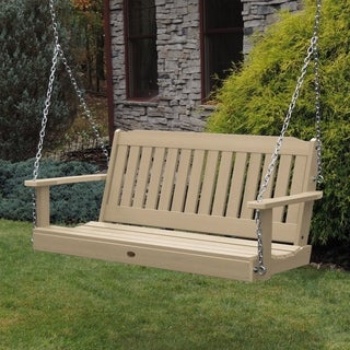 HighWood Marine-grade Synthetic Wood 4-foot Lehigh Porch Swing (Eco-friendly)