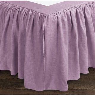 Sandy Wilson Linen 18-inch Drop Bedskirt