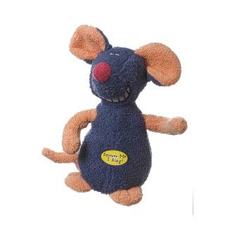 Multipet Deedle Dude Singing Plush Mouse Dog Toy Pet Toy