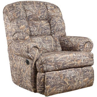 Offex Big and Tall 350-pound Capacity Camouflaged Encore Conceal Brown Fabric Rocker Recliner