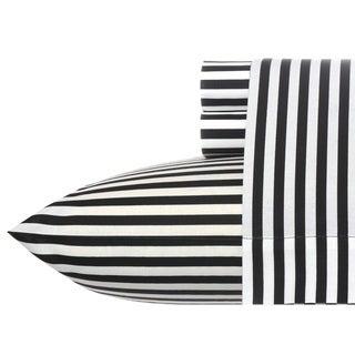 Betsey Johnson Black Stripe Sheet set