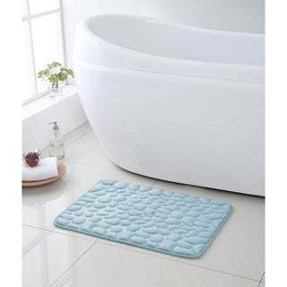 Pebbles 17 x 24 inch Memory Foam Bath Run (Set of 2)