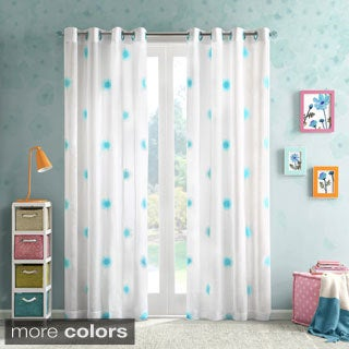 Mizone Annie Flower Embroidered Sheer Panel --2 Color Options