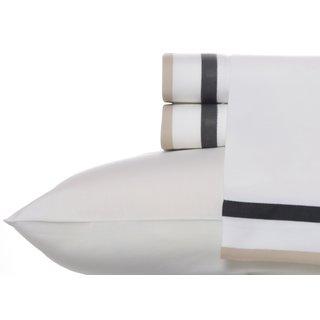 Wedgwood Double Banded Charcoal Cotton Sheet Set