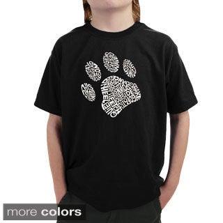LA Pop Art Boy's Dog Paw T-shirt