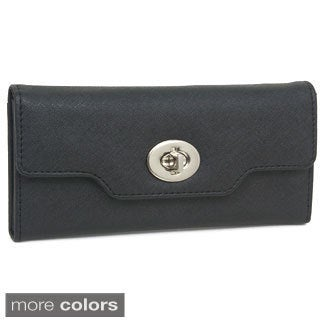 Rebecca and Rivka Flap Over Wallet with Turnlock