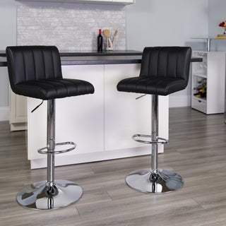 Modern Upholstered Swivel Bar Stool