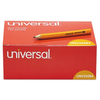 Universal Yellow Barrel Golf & Pew Pencil (3 Packs of 144)