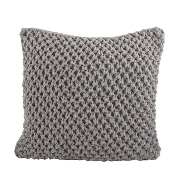 Throw Pillows On Konga : Knitted 20-inch Down Filled Throw Pillow - Overstock Shopping - Great Deals on Throw Pillows
