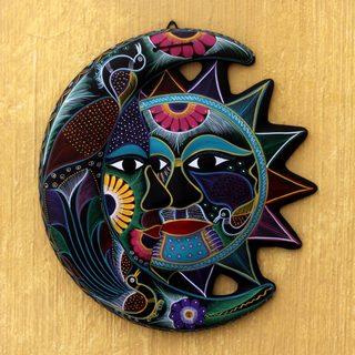 Ceramic 'Eclipse of Dance' Wall Adornment (Mexico)