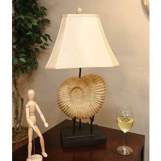 Somette Vanguard Series Seashell Fossil Table Lamp