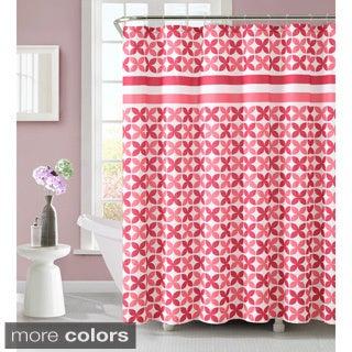 Pinwheel 72-inch Polyester Shower Curtain