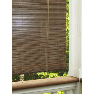 Aspen Outdoor Roll-up Blind in Cocoa Finish