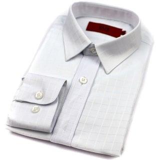 Elie Balleh Brand Boys' White Slim Fit Button-down Shirt