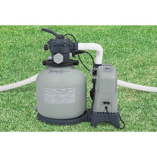Intex Krystal Clear 8,500-gallon Sand Filter Pump and Saltwater System
