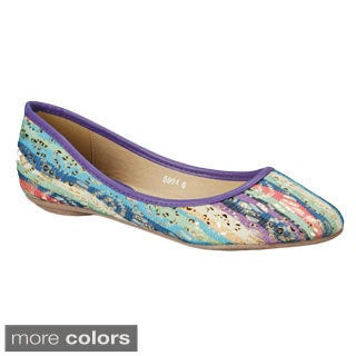 Nichole Simpson Stripe Patterned Ballet Flat