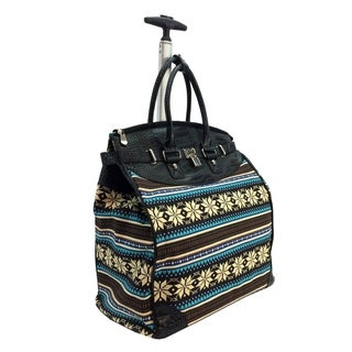 Aztec Rock Foldable Rolling Carry-on Tote Bag