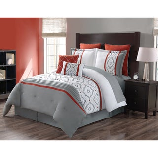 Journee Home Pamplona 8-piece Embroidered Comforter Set