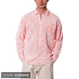 Men's Sea Change Paisley Linen Shirt