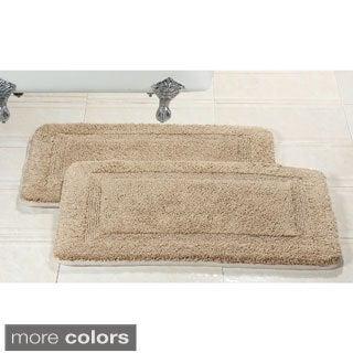 Elegance Spa 20x32-inch Memory Foam Cotton Bath Rug (Set of 2)