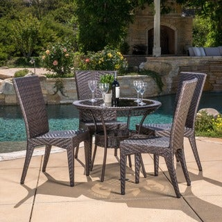 Christopher Knight Home Josh Outdoor 5-piece Wicker Dining Set