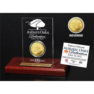 Auburn Oaks Dedication Gold Coin in Etched Acrylic