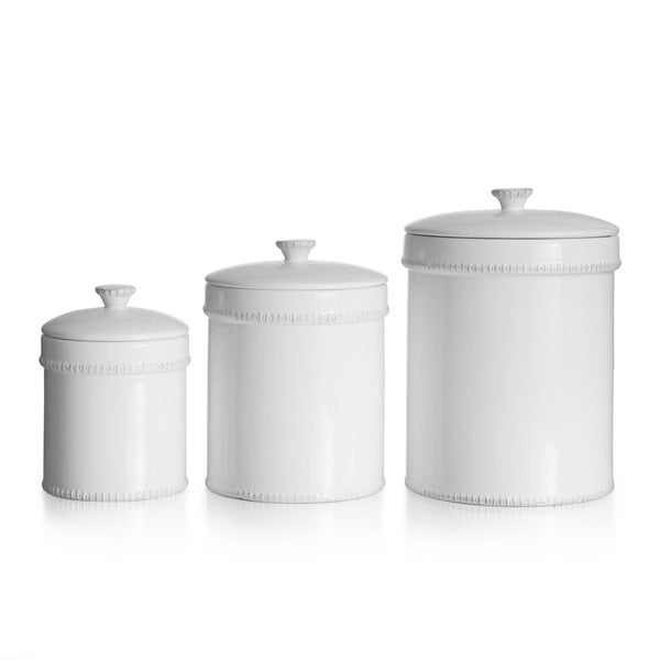 bianca dash white 3 piece canister set overstock