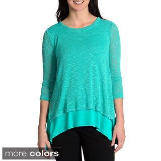 Chelsea & Theodore Women's knit 2fer