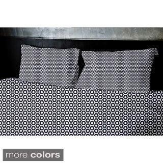 (68x92) Navy Blue, Light Blue, Aqua, Coral, Purple Twin XL Geometrics Printed Duvet Cover