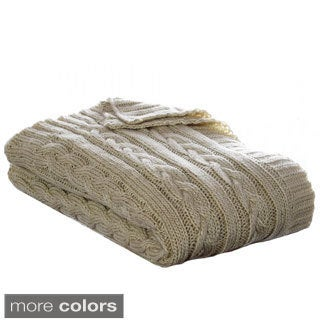 Eddie Bauer Cable Knit Throws