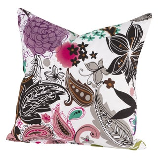 Garden Fantasy White Throw Pillow