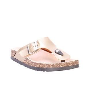 Coshare Women's Forever Birken-12 Low Top Flat Sandals