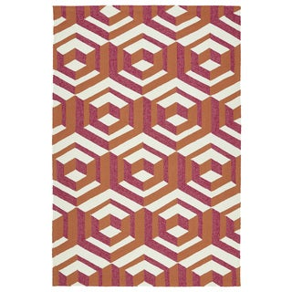 Indoor/ Outdoor Handmade Getaway Multi Geo Rug (9'0 x 12'0)