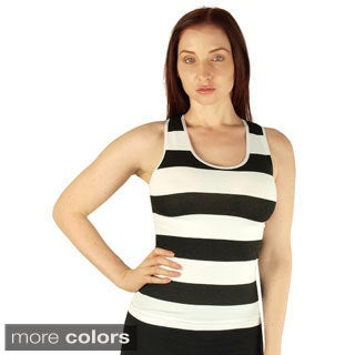 Women's Seamless Striped Racerback Tank Top