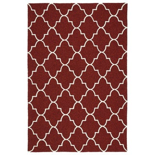 Indoor/ Outdoor Handmade Getaway Red Tiles Rug (9'0 x 12'0)