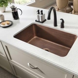 Sinkology O'Keefe Undermount Handmade Pure Solid Copper 30-inch Single Bowl Kitchen Sink