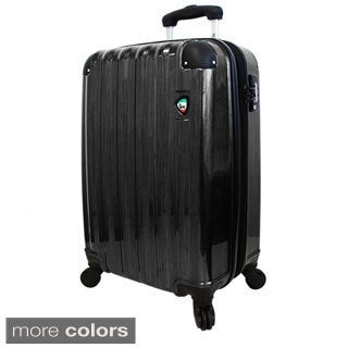 Mia Torro Spazzolato Lucido 29-inch Lightweight Hardside Expandable Spinner Upright Suitcase