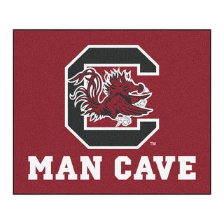 Fanmats Machine-Made University of South Carolina Red Nylon Man Cave Tailgater Mat (5' x 6')