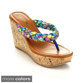 Liliana Women's Genoa-6 Thong Weave Sandals
