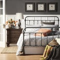 INSPIRE Q Giselle Dark Gray Graceful Lines Victorian Iron Metal Bed