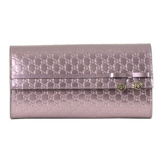 Gucci Charm Bow Continental Wallet