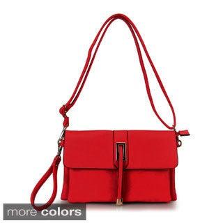 Diophy Solid Color Multiple Pocket Storage Crossbody Messenger Bag