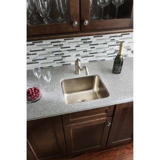 Sinkology Rembrant Handcrafted 17-inch Bar Prep Sink in Hammered Nickel
