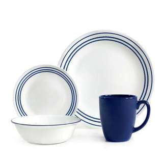 Corelle Livingware Jett Blue 16-piece Dinnerware Set