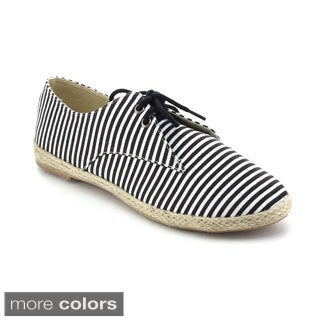 Refresh Women's Cover-01 Lace-up Espadrille Flats