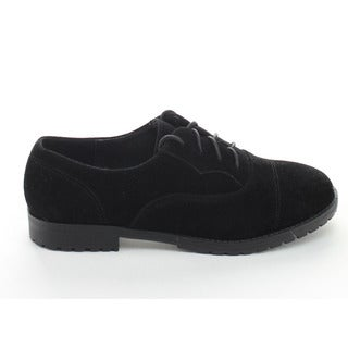 Refresh Women's Yinla Black Lace-up Low Chunky Heel Oxfords