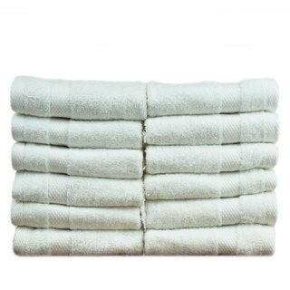 Luxury Hotel and Spa 100-percent Genuine Turkish Cotton Washcloths - Honeycomb (Set of 12)